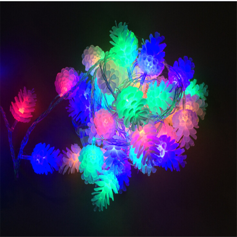 4M / 20leds Colourful Modeling LED String Pinecone - Мерекелік жарықтандыру - фото 6