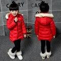 Детская одежда девочек, ватные куртки верхняя одежда зима 2016 ребенка зимой хлопок-ватник девочка средней длины долго