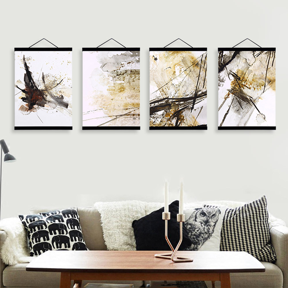 Aliexpress.com : Buy Abstract Chinese Ink Splash Wooden Framed ...