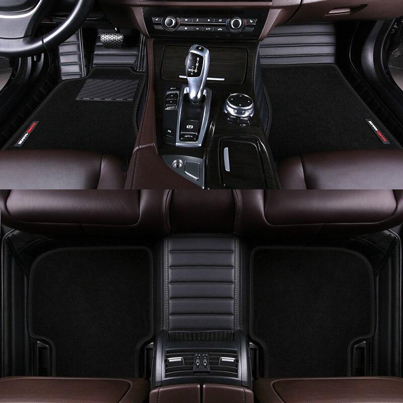 HLFNTF custom Double car floor mat for Volkswagen vw polo passat b5 6 golf tiguan jetta touran touareg car stylingcar