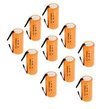 4 colour 6/lot  Ni-CD 3200mAh Orange/ 3000mah Pink /2600mah Green/2200mah red1.2V 4/5 SC Sub C NiCd  Battery Flat Top With Tabs цена в Москве и Питере