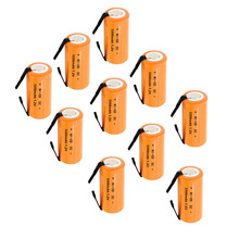 TWO colour for choose  10/lot Ni-CD 3200mAh Orange or 3000mah Pink 1.2V 4/5 SC Sub C NiCd Battery Flat Top With Tabs