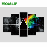 HOMLIF Music Art 5D Diamond Painting 5 Piece Picture Modern Bedroom Home Living Room Wall Decoration Wall Sticker Accessories