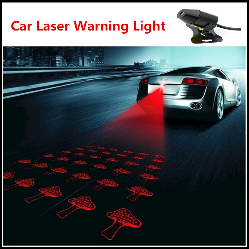 Car Cool Pattern Anti-Collision End Rear Tail Fog Driving Laser Caution Light BE