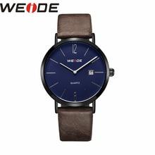цена WEIDE Clock leather strap men Analog Quartz Sports Wrist Watch Casual Genuine watch dress watch fashion casual Water Resistant онлайн в 2017 году