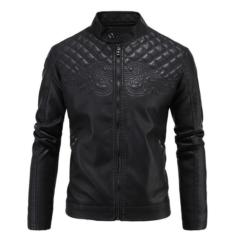 Jaqueta de couro masculina 2017 New PU Leather Jacket Slim Fit Winter Jacket Men Solid Mens <font><b>phoenix</b></font> Leather Coats Plus size 4XL