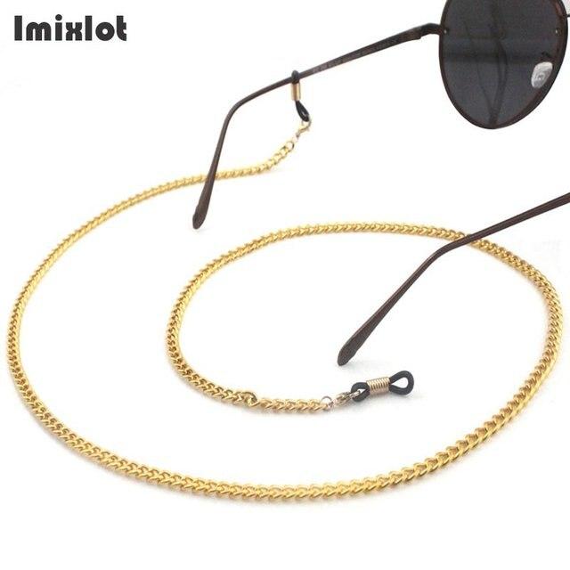 70dcfcd1f Imixlot محل الذهب نظارات للقراءة سلسلة النظارات الشمسية الرقبة سلاسل الحبل  حامل حزام معدني النظارات حاملي