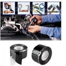 Black New Waterproof Silicone Performance Repair Tape Bonding Rescue Self Fusing Wire Hose Black Sell Hotting 3 Meters