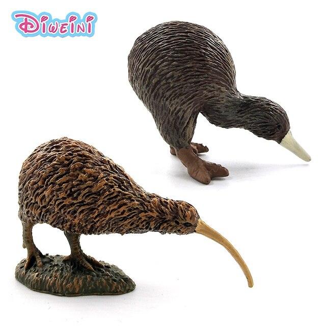 Simulação Bonito Pequeno kiwi pássaro modelo animal plástico mini decoração de casa figura estatueta decoração acessórios brinquedos para as crianças