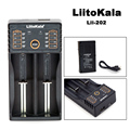 Liitokala Lii-202 18650 зарядное устройство 1.2 В 3.7 В 3.2 В 3.85 В AA/AAA 26650 10440 14500 16340 25500 NiMH литий аккумулятор smart зарядное устройство