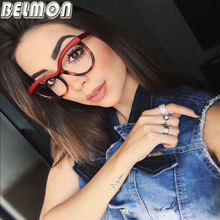 Belmon Optical Round Glasses Women Prescription Spectacles Fashion Clear Lens Eyewear Eyeglass Frames Protective Glasses RS906