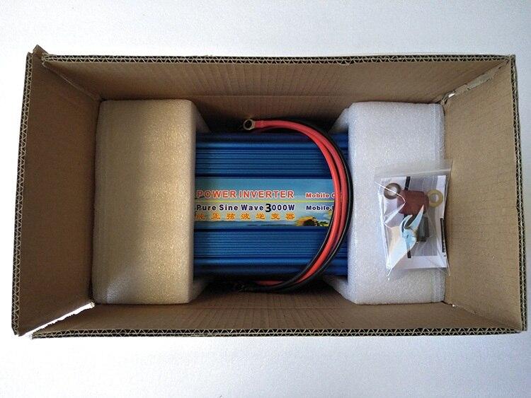 Pure Sine Wave Inverter 3000W Power Inverter 12V to 120V 60HZ Off Grid Digital Display