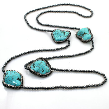 Bohemian Natural Turquoise Stone Necklace