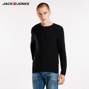 Image 2 - JackJones Mens Slim Fit woolen sweater casual Long Sleeve Pullover Mens Top 218324521