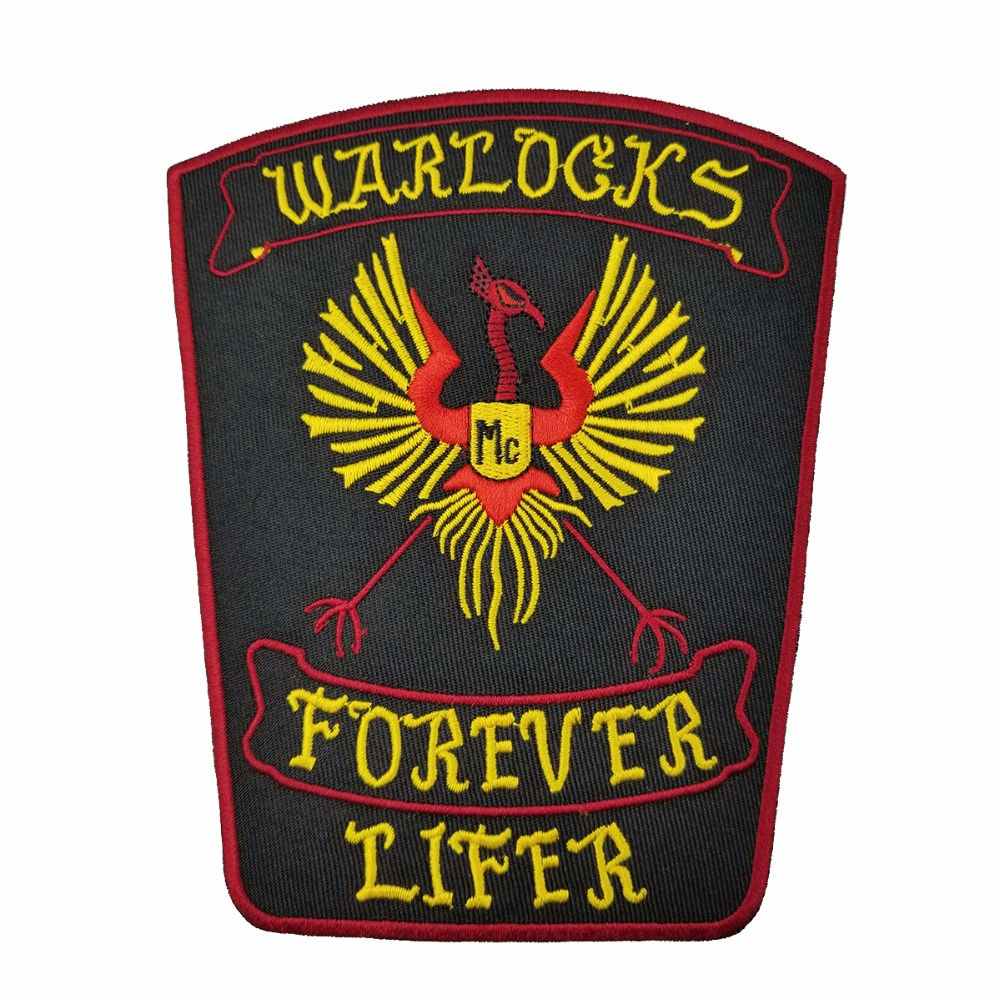 G0434 NEW ARRIVAL WARLOCKS Motorcycle Patch 1% Biker Rider Vest MC Embroidered Patch (2)