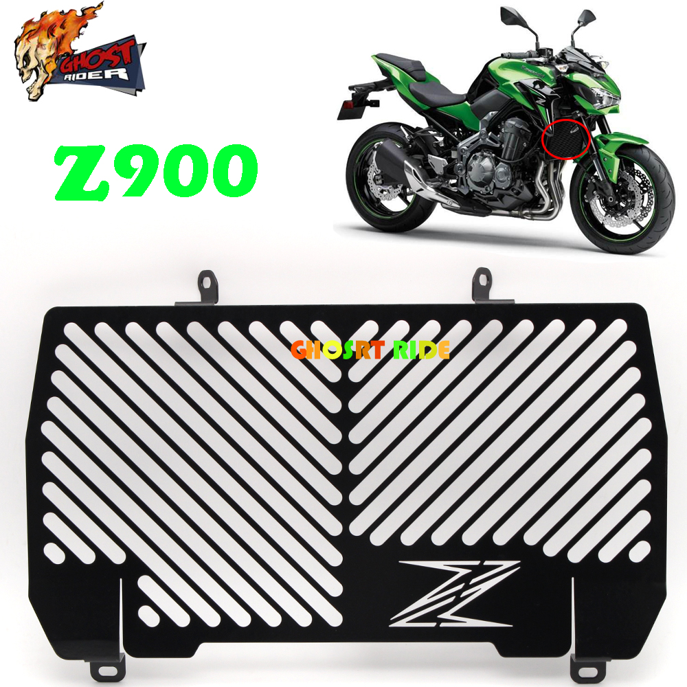 Motorcycle Radiator Grille Guard Cover Protector For Kawasaki Z900 Z 900 2017 for kawasaki z900 2017 motorcycle radiator guard gloss stainless steel grille bezel radiator net protective cover