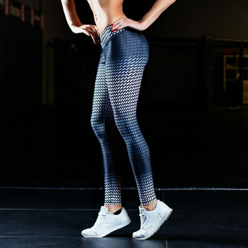 2017 New Women Sports Yoga Pants 3D Printed Jogging Gym Running Tights Exercise Female Fitness Sportwear Trousers Leggings