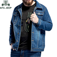 2019 New Large Size L 5XL 6XL 7XL Men's Denim Jacket Spring autumn Loose Large Lapel Casual Jeans Jackets Coat jaqueta masculina