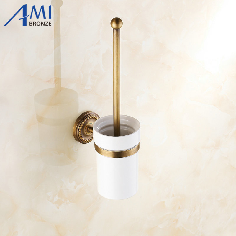 AB1 Series Antique Brass Bathroom Accessories Toilet Brush Holders with cup set Wall Mounted Sanitary wares 7008A колпак diffusor k50 1
