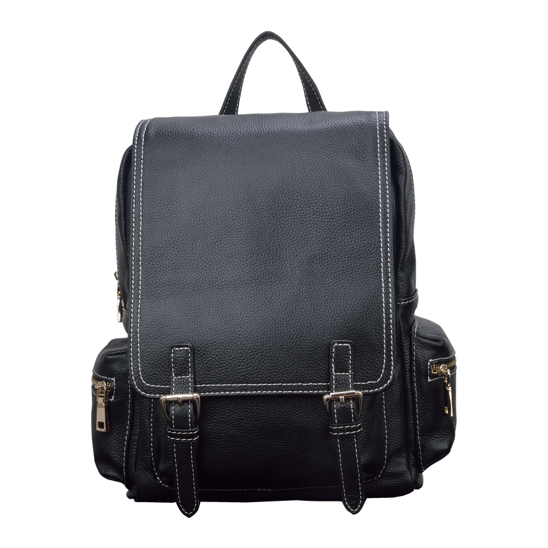 2017 Autumn 12 Inch Women's Laptop Backpack Genuine Cow Leather Elegant Young Ladies School Bag Large Capacity Travel Bag