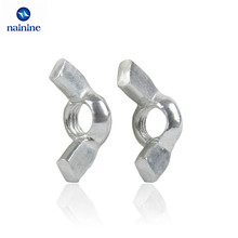 10Pcs DIN315 M3 M4 M5 M6 M8 M10 Galvanized Hand Tighten Nut Butterfly Nut Ingot Wing Nuts HW045