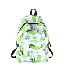 Korean Suihua backpack bag printing of polyester students fresh garden sweet Backpack