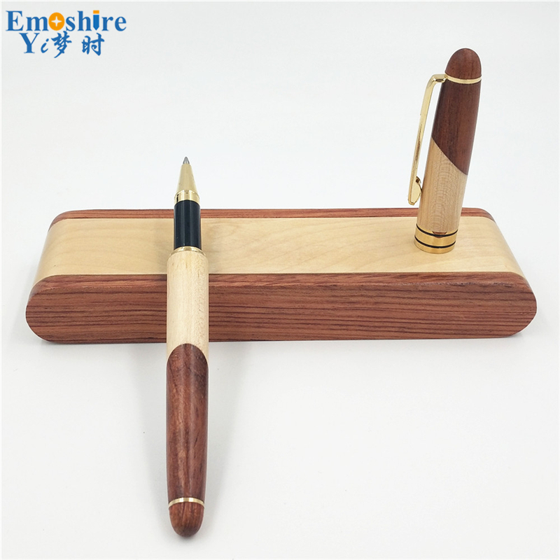Emoshire Factory direct sales mahogany pieces of wood signature pen suits wooden pen box creative gift customization (9)
