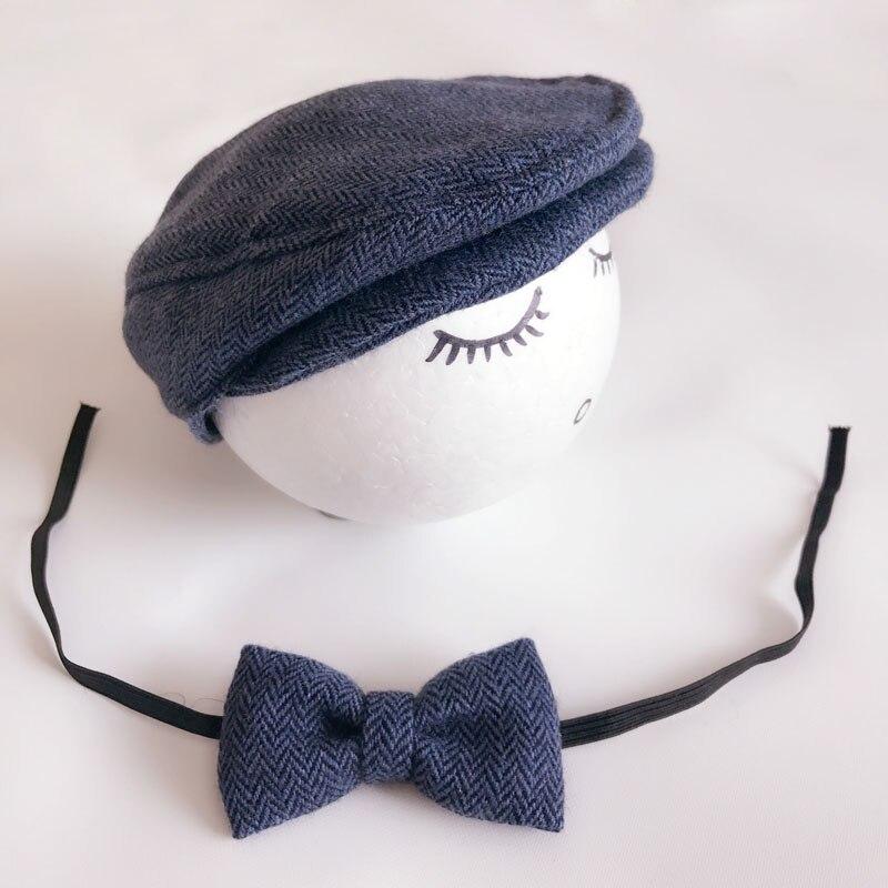 Crochet Baby Boy Gentleman Cap Bow Tie Set Տրիկոտաժե - Հագուստ նորածինների համար - Լուսանկար 5