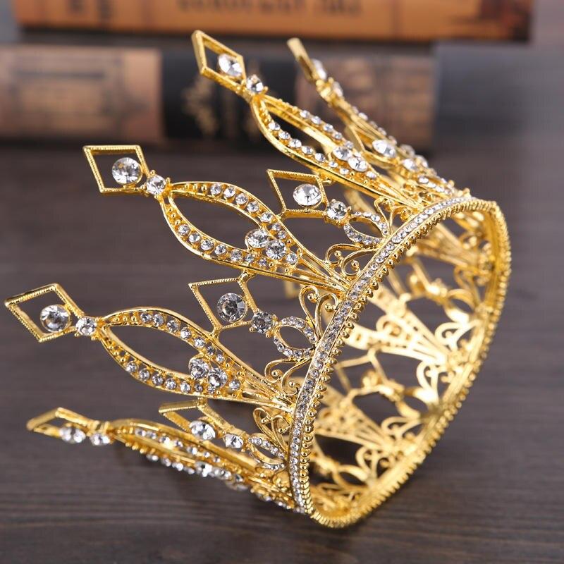 Arany színes király király diadalív korona barokk retro diadém - Divatékszer