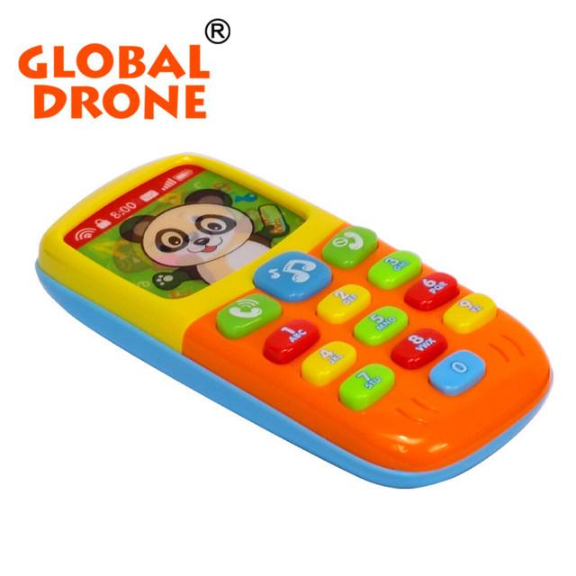 Engraçado brinquedos de aprendizagem de música bebê crianças mini telefone móvel iluminar brinquedos para preschool crianças