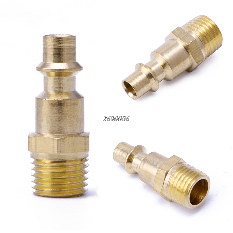 1/4 NPT Quick Coupler Air Line Hose Compressor Fittings Connector Tool 10 mm id hose air compressor pneumatic quick coupler connector barb socket fittings set sh 30 ph 30