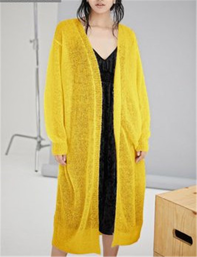 V aus Woll Ausschnitt Damenmode d reinem 100Handarbeit stricken feste DH2IW9YeEb