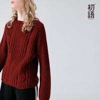 Toyouth Sweater Women Solid Color Geometric Thin Long Sleeve Tricot pull femme Pullover Casual Winter Fashion Knitted Jumpers