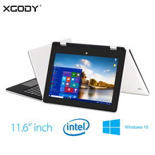 XGODY S116 11.6 Pulgadas Tablet PC de Windows 10 Intel Cereza Trail Quad Core 4G RAM 64G ROM 1920*1080 HD de Pantalla OTG HDMI WiFi Del Ordenador Portátil