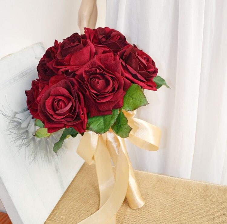 Fleur artificielle fleur de soie mariage fleur mariée tenant des fleurs sans prime grand
