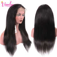 Vanlov 13X4 Brazilian Lace Front Human Hair Wigs For Women Straight Wig Pre-Plucked With Baby Hair Remy Natural Hairline