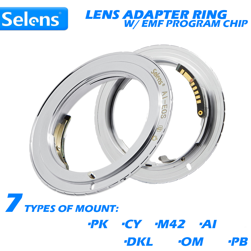 Selens AF Confirm Lens Adapter w/ EMF Program Chip for Canon EOS Digital Film Camera 5D Mark III 500D 650D 6D 7D 9th Generation