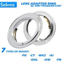 Selens AF potwierdzić Adapter obiektywu w/ EMF Program Chip do urządzenia Canon EOS aparat cyfrowy Film 5D Mark III 500D 650D 6D 7D 9th generacji