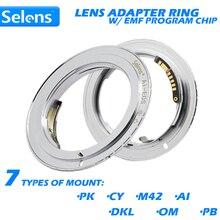 Адаптер объектива Selens с подтверждением автофокусировки с эмблемой для цифровой фотокамеры Canon EOS 5D Mark III 500D 650D 6D 7D 9 го поколения
