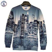 2017 Mr.1991INC New Fashion Men/Women 3D Hoodies print beautiful city night 3d sweatshirts Asian Size SWT93