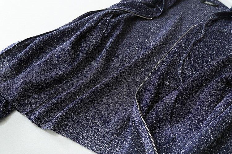 Специальные полушерстяные женские толстовки на молнии с капюшоном яркие нити тонкий вязаный весна лето осень M/L - 5