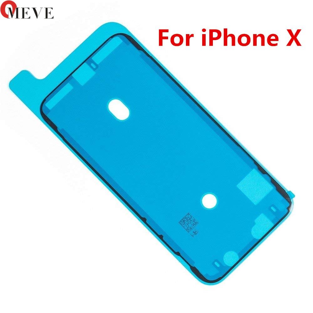 100pcs Original Waterproof 3M Pre Cut Adhesive Glue Tape Sticker For iPhone X XS XR XS MAX Front