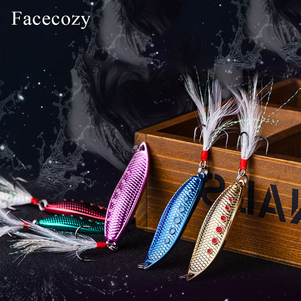 Image 2 - Facecozy Metal Bionic Leeches High Reflectivity Swimbait Dots Fish Scales Design 1Pc Tassel Tail Fishing Lures Artificial Bait-in Fishing Lures from Sports & Entertainment