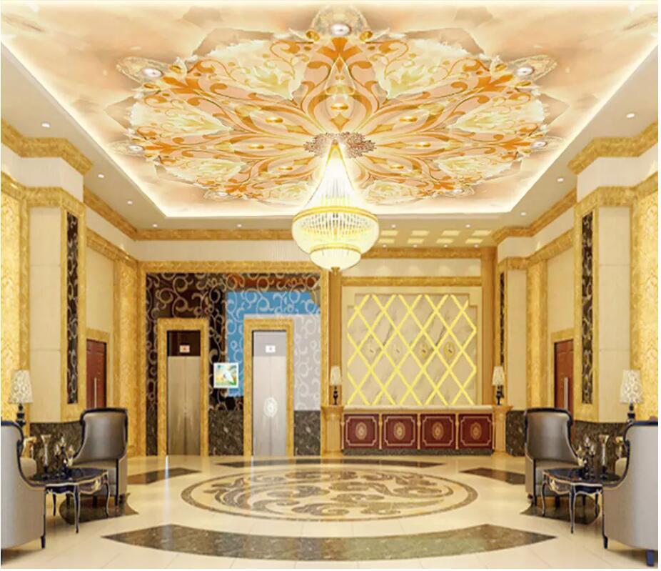 Custom Photo 3d Ceiling Mural Wallpaper Marble European