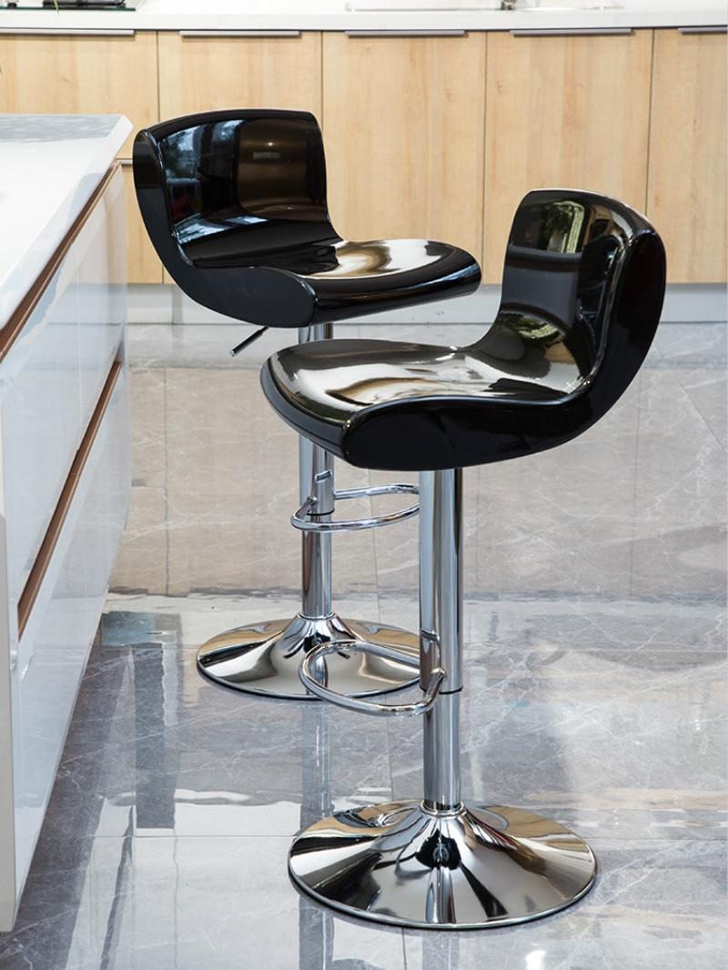 Bar Chair Increase The Chassis Lift High Stool Modern Minimalist High Stool Home Rotating Bar Chair ABS Resin Raw Material Bar