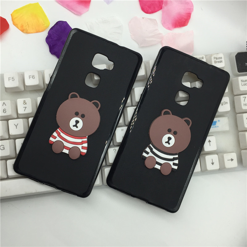 Lovely Panda 3D Phone Case Cover for Huawei Mate S Original Retro Brown Bear Soft Shell Back Covers Cases ...