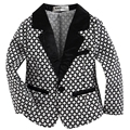 new arrival woven cotton blended with spandex  toddler boy blazer  with cute geometric pattern