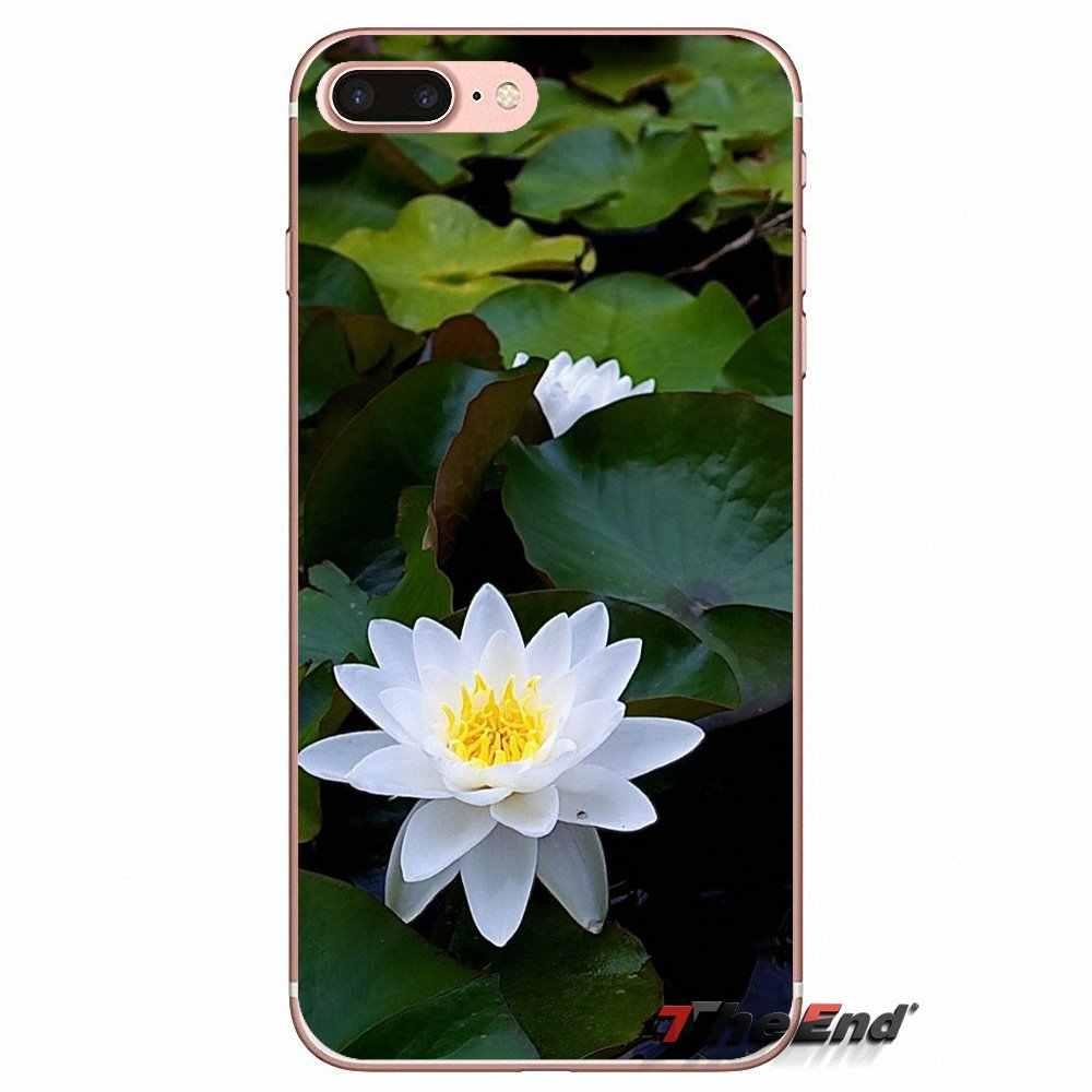 For Huawei G7 G8 Ascend P7 P8 P9 Lite Honor 4C 5X 5C 6X Mate 7 8 9 Y3 Y5 Y6 II Pro  Pink White Red Lotus Flower Phone Case