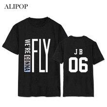 Youpop KPOP GOT7 FLY IN JAPAN Osaka Album Shirts K-POP Casual Cotton Clothes Tshirt T Shirt Short Sleeve Tops T-shirt DX362
