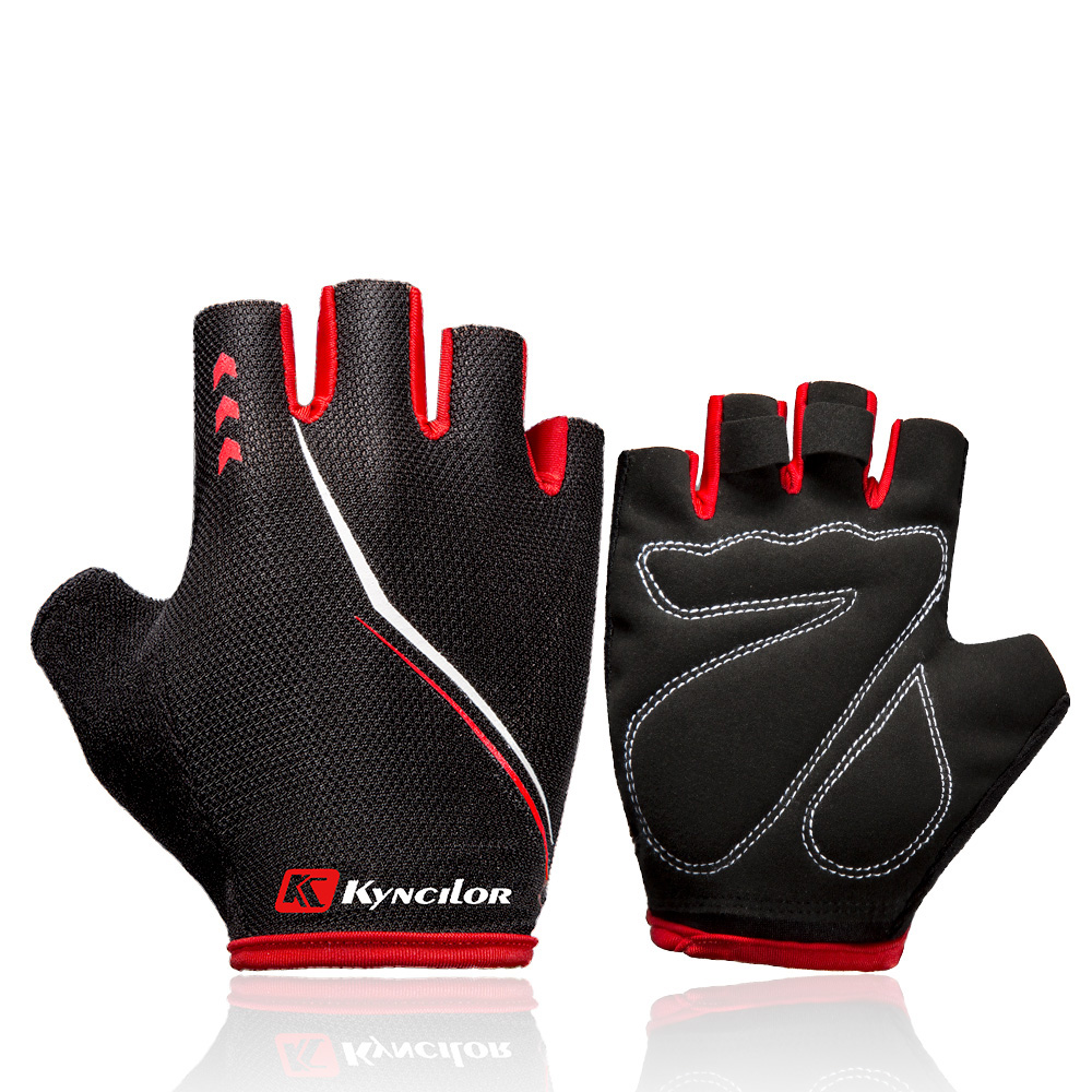 Kyncilor Cycling Bike Half Short Finger Gloves Shockproof Breathable MTB Road Bicycle Gloves Men Women Sports Cycling Equipment